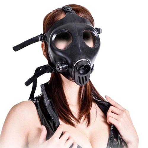 呼吸制御窒息プレイ用ガスマスク